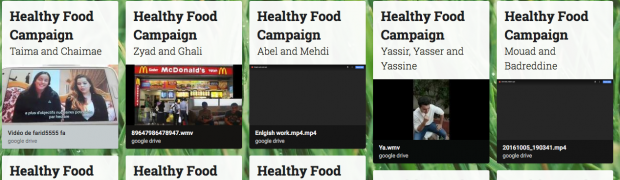 Healthy Eating Campaign - 1SA - Tâche finale - Anglais