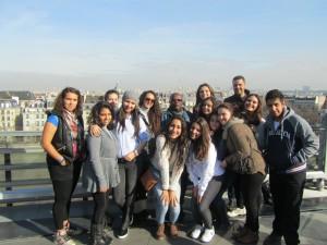 sur la terrasse de l'institut du monde arabe