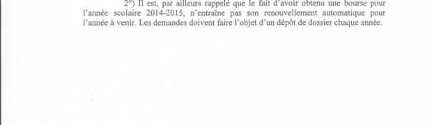 Bourses scolaires 2015-2016 (élèves français)