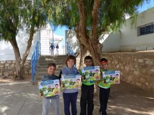 Equipe gagnante en ce2 : Théo Rigal, Karim Bouslikhane, Adam Achafi, Rayan Aqqa.
