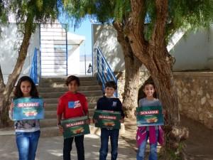 Equipe gagnante en cm1 : Yasmine Al Jirafe, Lina Azzabi, Kamil Taghi, Abdelhakim Ouardi.