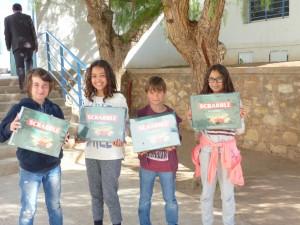 Equipe gagnante en cm2 : Khaoula Waekkach, Dylan Guillery, Tristan Looten, Ania Bakrim.
