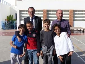 Equipe gagnante CM2 : Hakim Ouardi, Rayan Chevrier, Mohamed Darkauaoui et Ghaly.