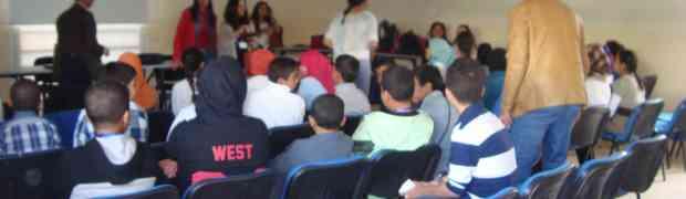 Accueil des élèves d'une école rurale à Ouelad Teima par les élèves de 5ème section internationale