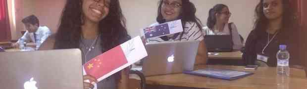 Participation au premier modèle  Anglais, Arabe et Amazigh des-Nations Unies à Agadir NAIMUN