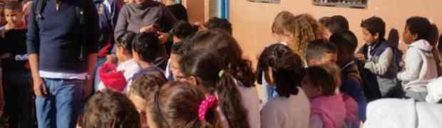 Visite d'une école publique rurale commune Temsia زيارة مدرســة عمــوميــة بجمــاعـة تمسيــة